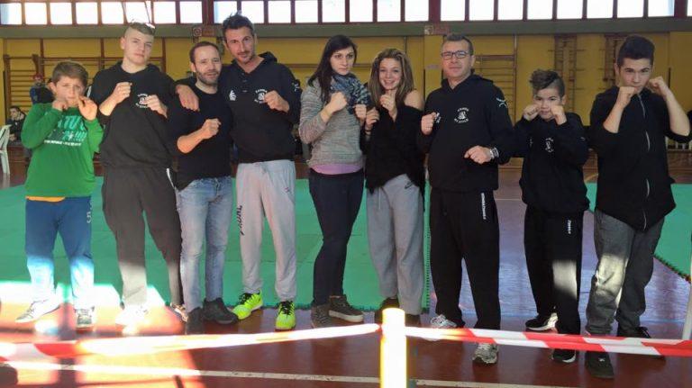 Prima gara per il gruppo della kick boxing