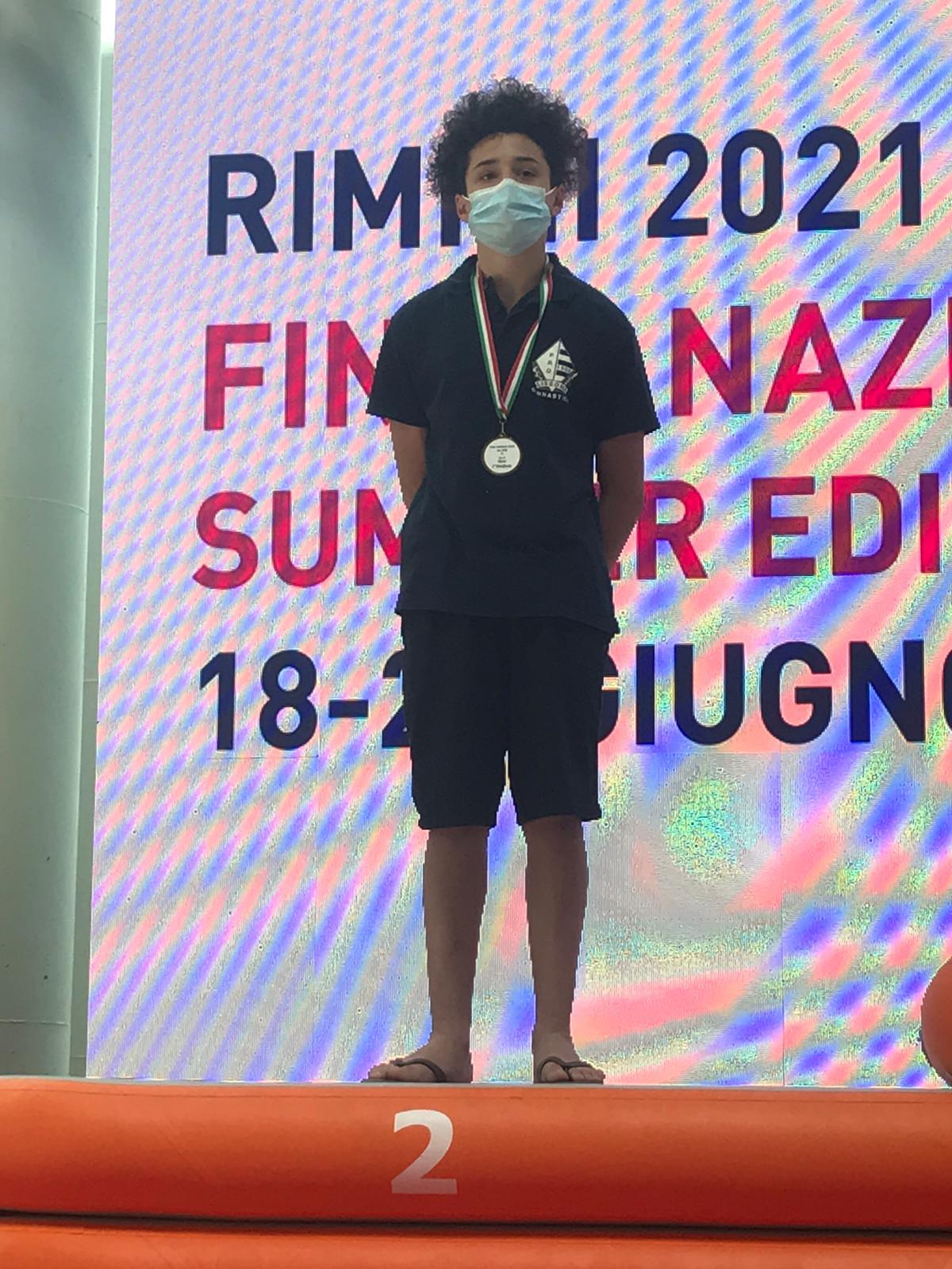 Pro Lissone/finali nazionali Silver: Mattia Mellerato vicecampione d'Italia alla sbarra
